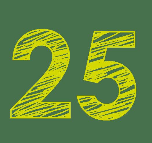 25 ans d'expérience